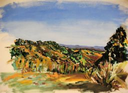 Morning west to Barrington Tops, oil on canvas paper, 42x59, $300