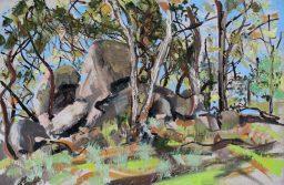Benloch landscape 1, oil on canvas board, 61x91, $700