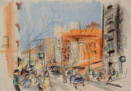 Macleay Street 4, pastel, 42x29, sold
