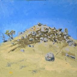 Caringa Rocks 5, oil on canvas board, 610x610, $500