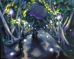 Hyde Park 3, oil on canvas, 61x76, $600