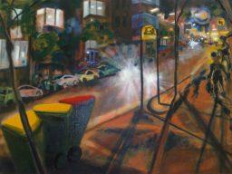 Elizabeth Bay shadow study 2, oil on canvas, 45x61, sold