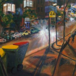 Elizabeth Bay shadow study 2, oil on canvas, 45x61, sold