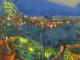 Garden Island from Riviera, oil on canvas, 61x76, sold
