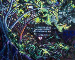 Hyde Park 1, oil on canvas, 610x765, $600