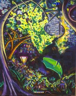 Hyde Park 2, oil on canvas, 61x76, $600