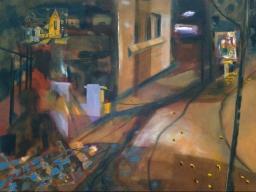 Elizabeth Bay Shadow Study 1, oil on canvas, 45x61, $500