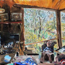 Benloch interior, oil on canvas paper, 61x91, NFS