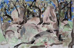Benloch landscape 2, oil on canvas board, 61x91, $700