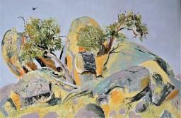 Caringa, the rock 2, oil on canvas board, 61x91, $700