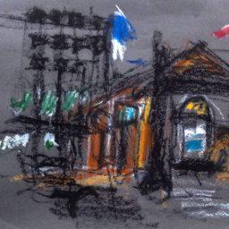 Circular Quay 1, pastel on paper, 27x39, $200