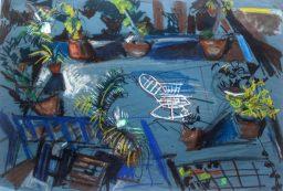 Lenton Parade 4, pastel on paper, 54x80, $400