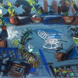 Lenton Parade 4, pastel on paper, 54x80, $400