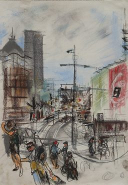 Darlinghurst Road 4, Pastel framed, 42x29, sold
