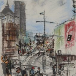Darlinghurst Road 4, Pastel framed, 42x29, sold