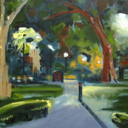 Rushcutters Bay, oil on canvas, 61x76, $600