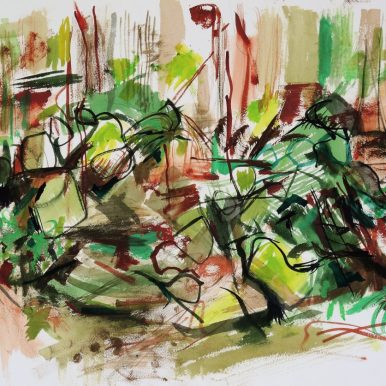 Wodi Wodi Rainforest 2,watercolour, 42x54, $500
