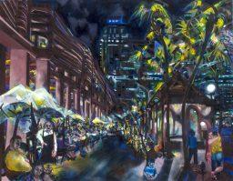 Circular Quay, oil on canvas, 106x137, $1500