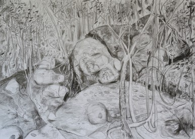 Wodi Wodi Upper Ampitheatre, pencil drawing, 66x92, $500