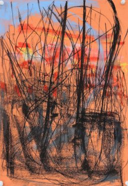 Sunset memory, pastel, 40x27.5, $300