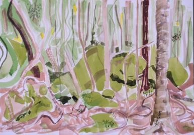 Wodi Wodi Rainforest 5,watercolour, 24x32, $200