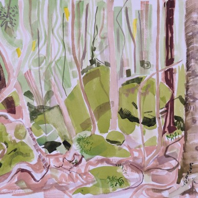 Wodi Wodi Rainforest 5,watercolour, 24x32, $200