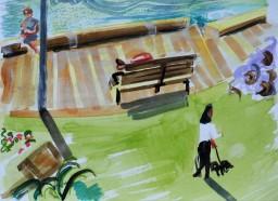 Beare Park sunny morning memory, watercolour, 24x32, $200