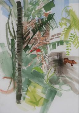 Riviera garden 2, watercolour, 42x29, $300