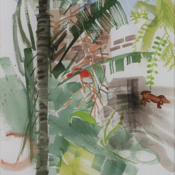 Riviera garden 2, watercolour, 42x29, $300
