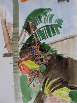 Riviera garden 1, watercolour, 32x24, 300